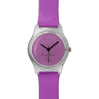 Add Your Text, Custom Watch PURPLE and FUN