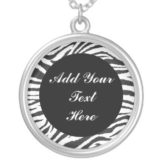 ADD YOUR TEXT HERE-NECKLACE ROUND PENDANT NECKLACE