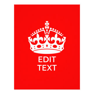 Add Your Text KEEP CALM CROWN on Red Customize it! Flyer