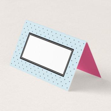 Beach Themed Add Your Text Modern Blue Black Polka Dot Place Card