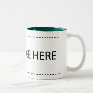 Add Your Text or Image Here Two-Tone Coffee Mug