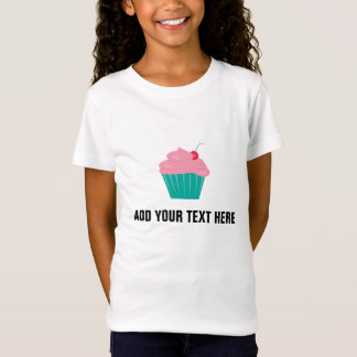Add Your Text Pink Cupcake T-Shirt