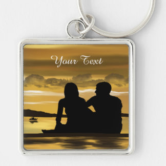 Add Your Text-Premium Square Keychain