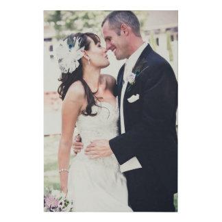 Add Your Wedding Photo Faux Canvas Print