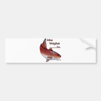 Add your weight-Redfish Car Bumper Sticker