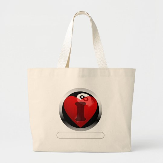 Add your words 8 ball large tote bag