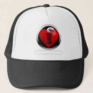Add your words 8 ball trucker hat