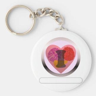 Add your words Cheerleading Basic Round Button Keychain