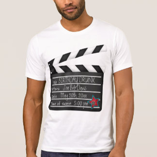Add Your Words Movie Director Clapboard T-Shirt