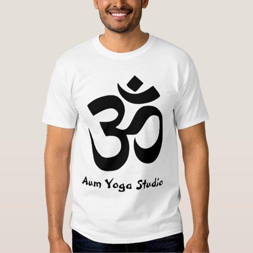 Add Your Yoga Studio Name Om Zen Practice Symbol T-Shirt