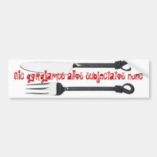 Addams family motto bumper sticker