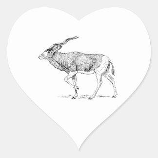 Addax Heart Sticker