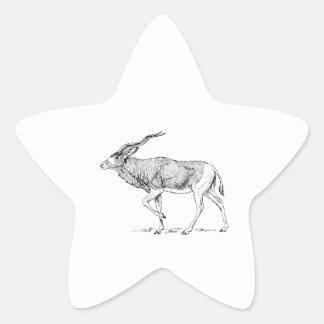 Addax Star Sticker
