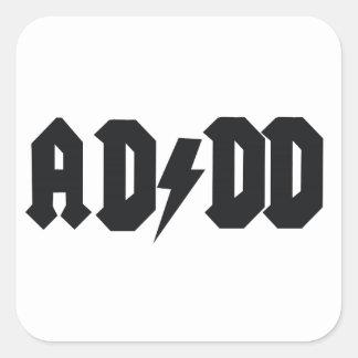ADDD design Square Sticker
