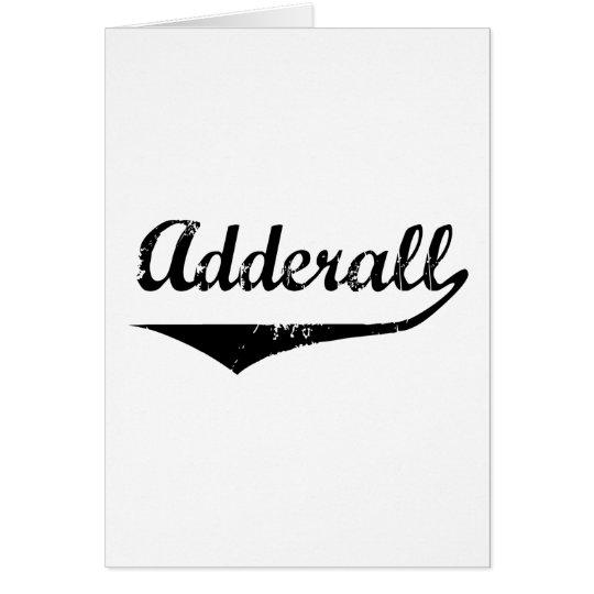 Adderall Card