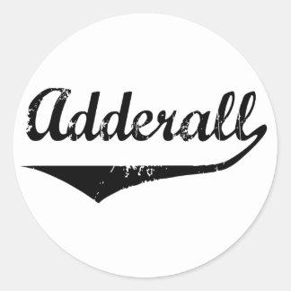 Adderall Classic Round Sticker