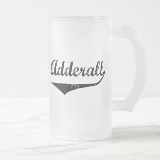 Adderall Frosted Glass Beer Mug