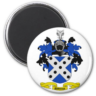 Addicoat Coat of Arms 2 Inch Round Magnet