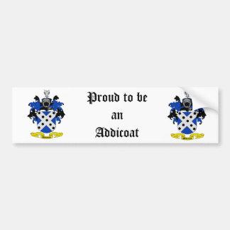 Addicoat Coat of Arms Bumper Sticker