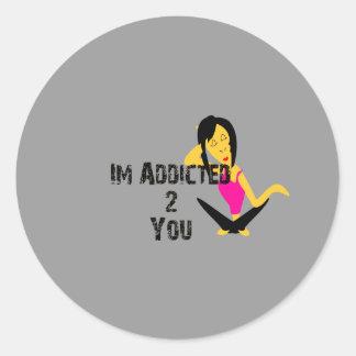 Addicted Classic Round Sticker