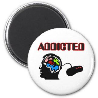 Addicted-Gamer Brain Plug In Magnet