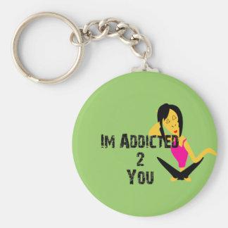Addicted Keychain