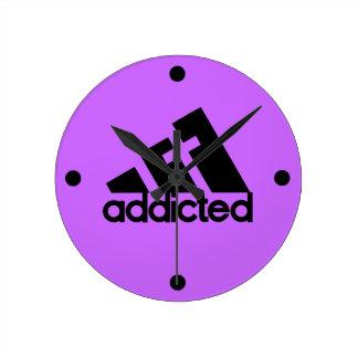 Addicted Round Clock