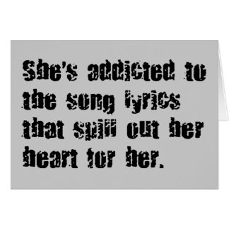 ADDICTED SONG LYRICS HEART SPILL SAD EMO COMMENTS CARD