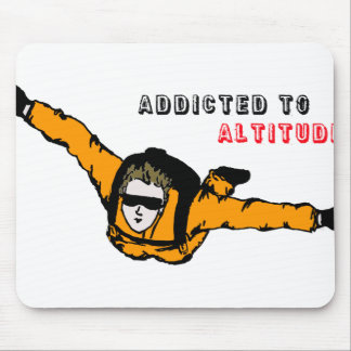 Addicted to Altitude Skydiver Mouse Pad