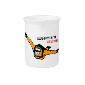 Addicted to Altitude Skydiver Pitcher