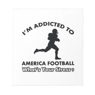 addicted to american football note pads