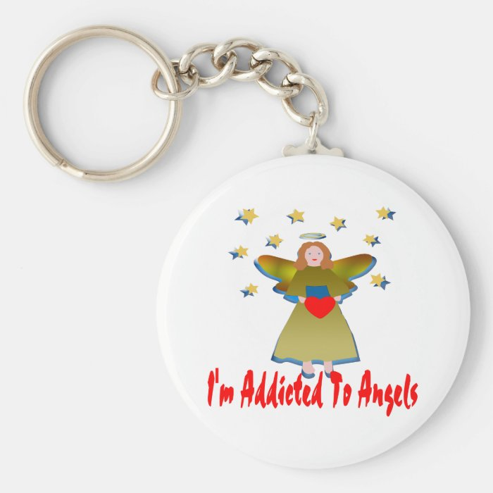 Addicted To Angels Keychain