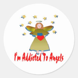 Addicted To Angels Round Sticker