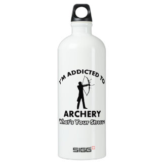 addicted to archery aluminum water bottle
