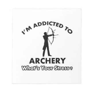 addicted to archery memo pad