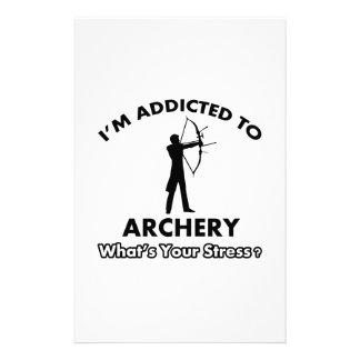 addicted to archery customized stationery