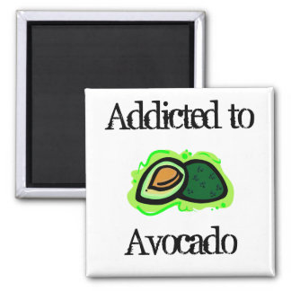 Addicted to Avocado 2 Inch Square Magnet