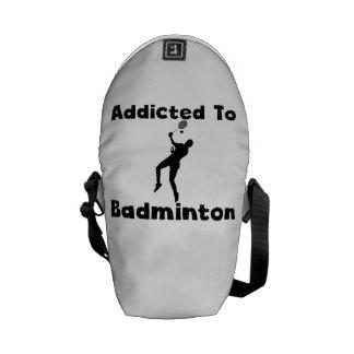 Addicted To Badminton Messenger Bag