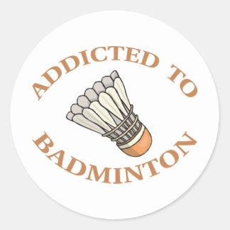 Addicted To Badminton Round Stickers