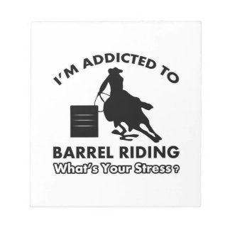 addicted to barrel-riding notepads