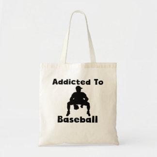 Addicted To Baseball Tote Bags