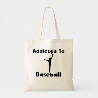 Addicted To Baseball Canvas Bags