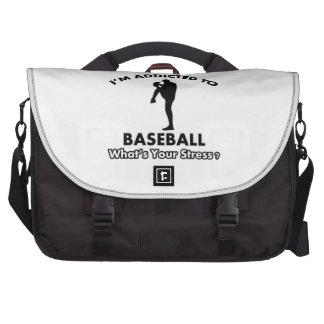 addicted to baseball laptop bag