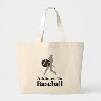 Addicted To Baseball Large Tote Bag