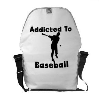 Addicted To Baseball Messenger Bags