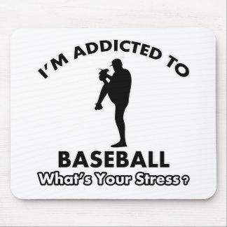 addicted to baseball mouse pad