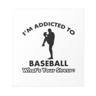 addicted to baseball notepads