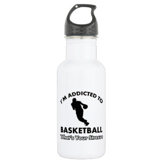 addicted to basketball 18oz water bottle