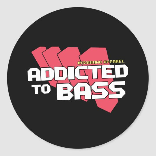 Addicted to Bass Stickers