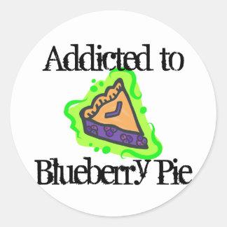 Addicted To Blueberry Pie Classic Round Sticker